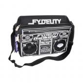 Original Fydelity Universal Le Boom Box Coolio Cooler Bag w/ Built-In Amplifier & Speakers (3.5mm), 91251 - Black/ White