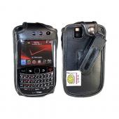 Original TurtleBack Premium Blackberry Bold 9650/ Tour 9630 Leather Pouch w/ Swivel Belt Clip - Black