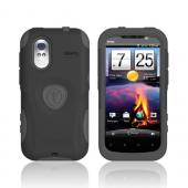 Original Trident Aegis HTC Amaze 4G Hard Cover Over Silicone Case w/ Screen Protector, AG-AMAZE-BK - Black