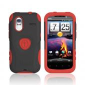 Original Trident Aegis HTC Amaze 4G Hard Cover Over Silicone Case w/ Screen Protector, AG-AMAZE-RD - Red/ Black