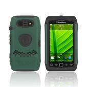 Original Trident Aegis Blackberry Torch 9860, 9850 Hard Cover Over Silicone Case, AG-BB-9850-BG - Green/ Black