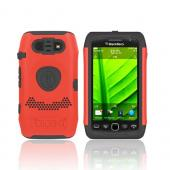 Original Trident Aegis Blackberry Torch 9860, 9850 Hard Cover Over Silicone Case, AG-BB-9850-RD - Red/ Black