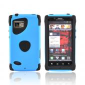 Original Trident Aegis Motorola Droid Bionic XT875 Hard Cover Over Silicone Case w/ Screen Protector, AG-BIO-BL - Blue/ Black