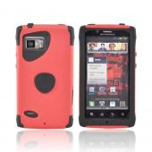 Original Trident Aegis Motorola Droid Bionic XT875 Hard Cover Over Silicone Case w/ Screen Protector, AG-BIO-RD - Red/ Black