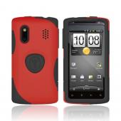 Original Trident HTC EVO Design 4G Aegis Hard Case on Silicone w/ Screen Protector, AG-HERO-RD - Red/ Black