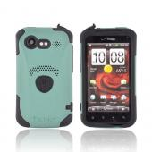 Original Trident Aegis HTC Droid Incredible 2 Hard Cover Over Silicone Case w/ Screen Protector, AG-INC-S-BG - Green/ Black