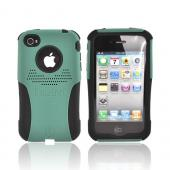 Original Trident AT&amp;T/Verizon Apple iPhone 4, iPhone 4S Aegis Hard Case Over Silicone Screen Protector, AG-IPH4-BG - Green/Black