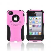 Original Trident AT&T/Verizon Apple iPhone 4, iPhone 4S Aegis Hard Case Over Silicone Screen Protector, AG-IPH4-PK - Pink/Black