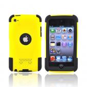 Original Trident Apple iPod Touch 4 Aegis Hard Case Over Silicone w/ Audio Jack and Screen Protector, AG-IPOD4-YL - Yellow/Black