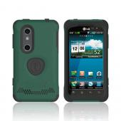 Original Trident Aegis LG Thrill 4G Anti-Skid Hard Cover Over Silicone Case w/ Screen Protector, AG-LG-THRL-BG - Green/ Black