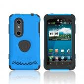 Original Trident Aegis LG Thrill 4G Anti-Skid Hard Cover Over Silicone Case w/ Screen Protector, AG-LG-THRL-BL - Blue/ Black