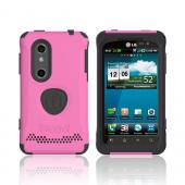 Original Trident Aegis LG Thrill 4G Anti-Skid Hard Cover Over Silicone Case w/ Screen Protector, AG-LG-THRL-PK - Pink/ Black