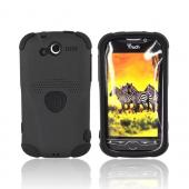 Original Trident HTC MyTouch 4G Aegis Hard Case Over Silicone Screen Protector, AG-MTC-BK - Black