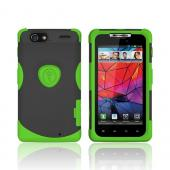 Original Trident Aegis Motorola Droid RAZR Hard Cover Over Silicone Case w/ Screen Protector, AG-RAZR-TG - Lime Green/ Black
