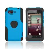 Original Trident Aegis HTC Rhyme Hard Cover Over Silicone Case w/ Screen Protector, AG-RHYME-BL - Blue/ Black
