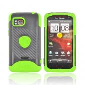 Original Trident Aegis HTC Rezound Hard Cover on Silicone Case w/ Screen Protector, AG-RZND-TG - Lime Green/ Black