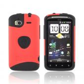 Original Trident Aegis HTC Sensation 4G Rubberized Hard Cover Over Silicone Case, AG-SEN-RD - Red/ Black