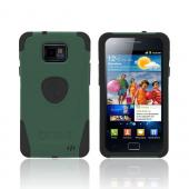 Original Trident Aegis AT&amp;T Samsung Galaxy S2 Hard Cover Over Silicone Case w/ Screen Protector, AG-SGX2-BG - Green/ Black