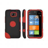 Original Trident Aegis HTC Titan 2 Hard Case Over Silicone w/ Screen Protector, AG-TITAN2-RD - Red/ Black