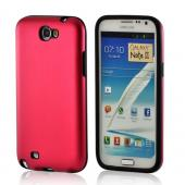 Red/ Black Aluminum Hard Case on Silicone for Samsung Galaxy Note 2