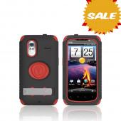 Original Trident Kraken AMS HTC Amaze 4G Hard Case Over Silicone w/ Screen Protector, Kickstand, & Belt-Clip, AMS-AMAZE-RD - Red/ Black