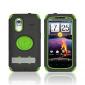 Original Trident Kraken AMS HTC Amaze 4G Hard Case Over Silicone w/ Screen Protector, Kickstand, &amp; Belt-Clip, AMS-AMAZE-TG - Lime Green/ Black