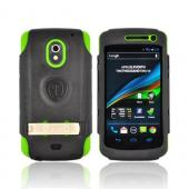 Original Trident Kraken AMS Samsung Galaxy Nexus Hard Case Over Silicone w/ Screen Protector, Kickstand & Belt-Clip, AMS-GLNX-TG - Lime Green/ Black
