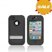 Original Trident Kraken AMS AT&T/ Verizon Apple iPhone 4, iPhone 4S Hard Case Over Silicone w/ Screen Protector, Kickstand, & Belt-Clip, AMS-IPH4S-BK - Black