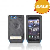 Original Trident Kraken AMS Motorola Droid RAZR Hard Case Over Silicone w/ Screen Protector, Kickstand, &amp; Belt-Clip, AMS-RAZR-BL - Blue/ Black
