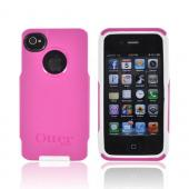 Original Otterbox Strength Case AT&T/ Verizon Apple iPhone 4, iPhone 4S Commuter Series Hard Case Over Silicone w/ Screen Protector, APL4-I4SUN-44-E4AVN - Hot Pink/ White