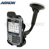 Original Arkon Blackberry Bold 9650 &amp; Tour 9630, Curve 8700, Curve 8900 Gooseneck Windshield, Dash, or Console Mount, BB220 - Black