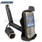 Original Arkon Blackberry Bold 9650 &amp; Tour 9630, Curve 8700, Curve 8900 Lighter Socket Mount w/ Additional Power Dongle, BB221 - Black