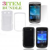 Blackberry Torch Bundle Package - Clear Hard Case, Silicone Case & Screen Protector - (Essential Combo)