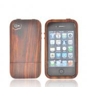 &quot;Exclusive&quot; Tphone Eco-Design AT&amp;T/ Verizon Apple iPhone 4, iPhone 4S Hand-Finished Wood Hard Sliding Cover Case w/ Screen Protector - Natural Sonokeling Wood