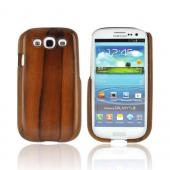 Exclusive TPhone Eco-Design Samsung Galaxy S3 Wood Back Cover Case - Brown Teak Wood
