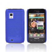 Premium Samsung Fascinate i500 Rubberized Back Cover Case - Mesh Blue