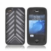 Original Case-Mate Apple iPhone 4 Torque Silicone Case w/ Screen Protector, CM011814 - Gray/Black