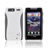 Original Case-Mate Motorola Droid RAZR POP! Hard Case w/ Kickstand, CM018195 - White/ Gray