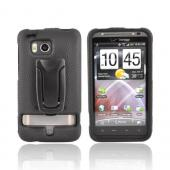 Original BodyGlove HTC Thunderbolt Snap-On Hard Case w/ Adjustable Kickstand, CRC92085 - Black