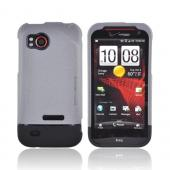 Original Body Glove HTC Rezound Slide-On Icon Rubberized Hard Case, CRC92483 - Gray/ Black