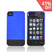 Original Body Glove AT&amp;T/ Verizon Apple iPhone 4, iPhone 4S Slim Slide-On Icon Rubberized Hard Case, CRC92513 - Blue/ Black