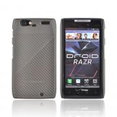 Original Body Glove Motorola Droid RAZR Fade Snap-On Hard Case w/ Lines, CRC92534 - Pewter
