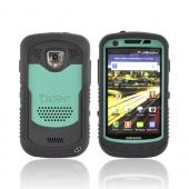 Original Trident Cyclops Samsung Droid Charge Silicone on Rubberized Hard Case w/ Screen Protector, CY-SCHG-BG - Green/ Black