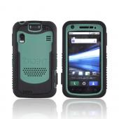Original Trident Cyclops Motorola Atrix 4G Silicone on Rubberized Hard Case w/ Screen Protector, CY-STRX-BG - Green/ Black