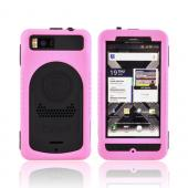 Original Trident Cyclops II Motorola Droid X MB810/ X2 Anti-Skid Hard Cover Over Silicone Case w/ Screen Protector, CY2-DX2-PK - Pink/ Black
