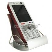 Metal Rocking Chair Cell Phone Holder - Silver