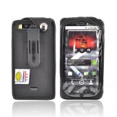 Original TurtleBack Premium Motorola Droid X MB810 Leather Case w/ Swivel Clip - Black