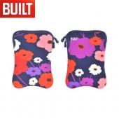 "Original BUILT Universal (7-8"" Tablets like Amazon Kindle Fire) Hourglass Design Neoprene Sleeve Case, E-ES8-LSH - Purple/ Red/ Pink Flowers on Navy Blue"
