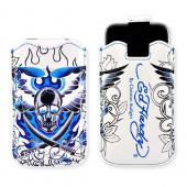 Original Ed Hardy Apple iPhone 3G 3GS Sleeve Case - Flame Skull in White