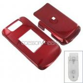 Blackberry Pearl Flip Hard Case - Red